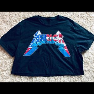 """murica"" cropped tee"